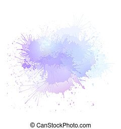 Purple watercolor splashes. The object is separate from the background.
