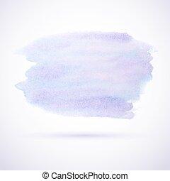 Purple watercolor stain design element
