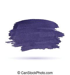 Purple watercolor stripe