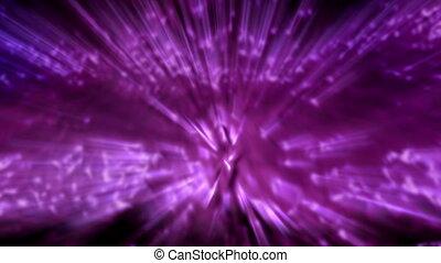 Purple Waves of Light Rays Loop