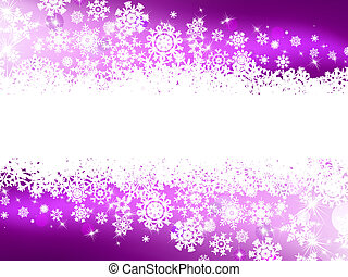 Purple winter background & snowflakes. EPS 8