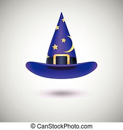 Purple witch hat for Halloween. - Purple witch hat with...