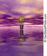 PurpleDeconstruction - science fiction purple serene...