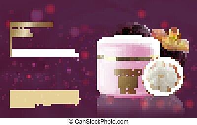 purple.vector, fruit, crème hydratante, bouteille,...