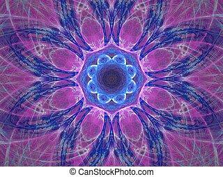 purplish, mandala