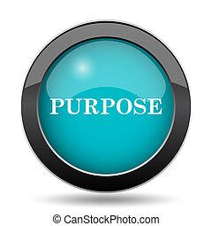 Purpose icon. Purpose website button on white background.