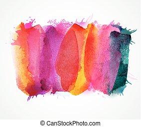 purpur, lila, magenta, och, rosa, vattenfärg, stains., blank färg, element, för, abstrakt, artistisk, bakgrund.