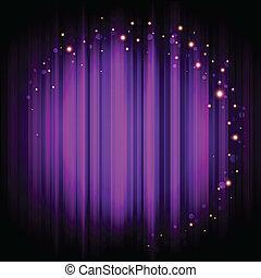 purpur, lys, baggrund, phasen