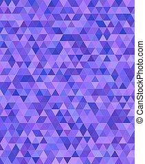 purpur, triangel, design, mosaik, bakgrund