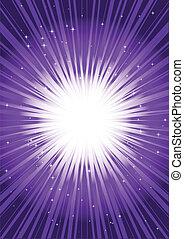 purpur, vektor, signalljus