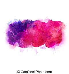 purpur, violett, lila, och, rosa, vattenfärg, stains., blank färg, element, för, abstrakt, artistisk, bakgrund.