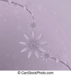 purpurfärgad blomma, vin, bakgrund