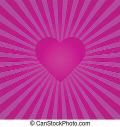 purpurfärgad hjärta, sunburst