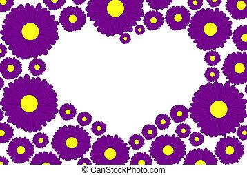 purpurfärgade blommor