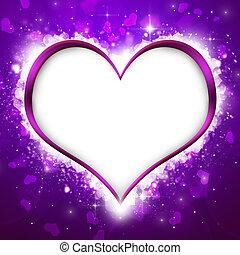 purpurowe serce, valentine`s, tło