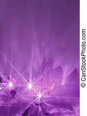 purpurowy, światła