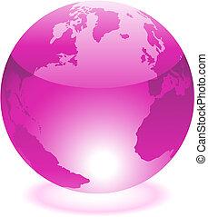 purpurowy, świat