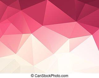 purpurowy, abstrakcyjny, białe tło, geometryczny