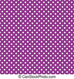 purpurowy, backgroun, polka, seamless, kropka