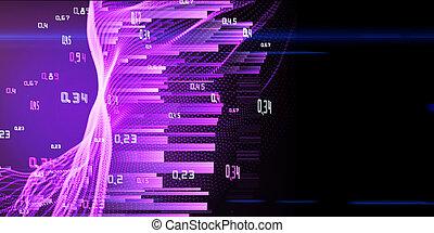 purpurowy, cielna, abstrakcyjny, analiza, tło., infographic, shines, dane, concept.