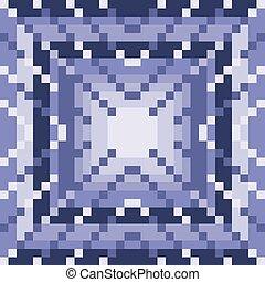 purpurowy, geometryczny, pixels, tło
