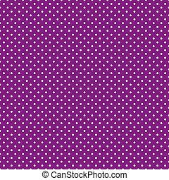 purpurowy, jasny, polka, seamless, kropkuje