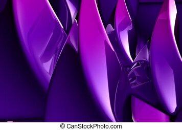 purpurowy, korkociąg, wir