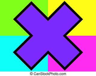 purpurowy, krzyż