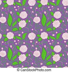purpurowy, kwiatowy wzór