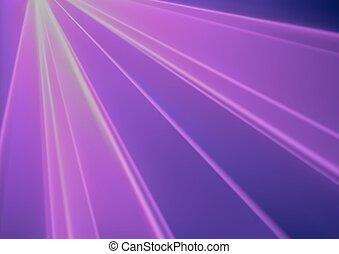 purpurowy, lekki, laser, skutek, dyskoteka