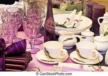 purpurowy, naczynia kuchenne