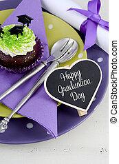 purpurowy, partia, zielony, dzień, skala