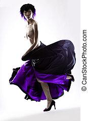 purpurowy, poła