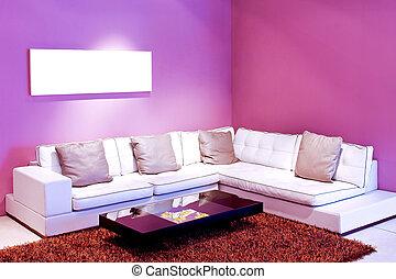 purpurowy, pokój