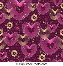 purpurowy, próbka, seamless, valentine