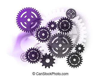purpurowy, przemysłowy