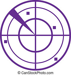 purpurowy, radar