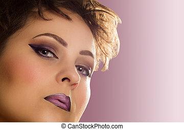 purpurowy, retro, piękno
