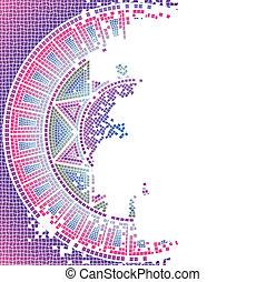 purpurowy, używany, mozaika, poza