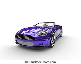 purpurowy, wóz, metaliczny, lekkoatletyka