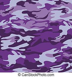 purpurowy, wojskowy, kamuflaż, tło