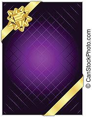 purpurroter hintergrund, goldbogen