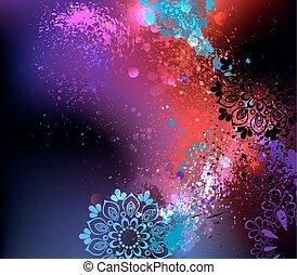 purpurroter hintergrund, holi