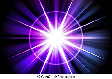 purpurroter stern, abstrakt, sunburst