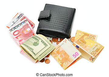 Purse and paper money