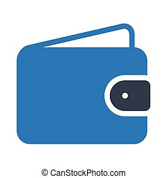 purse glyph color icon