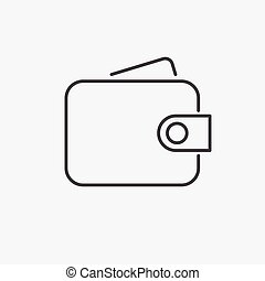 Purse. Line Icon Vector. Sign isolated on white background. Flat design style