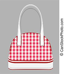 Purse - Vector illustration of the red purse on white