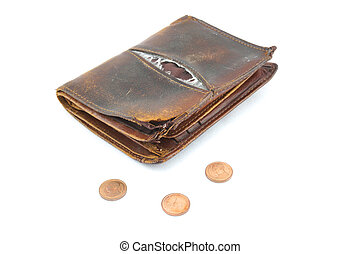 Purse with 3 coins