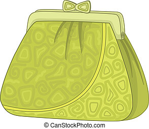 Purse with patterns - Female green purse for money with...